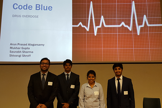 Code Blue team members were Shivangi Shroff, Mukhar Gupta, Saurabh Sharma and Arun Prasad Alagarsamy.