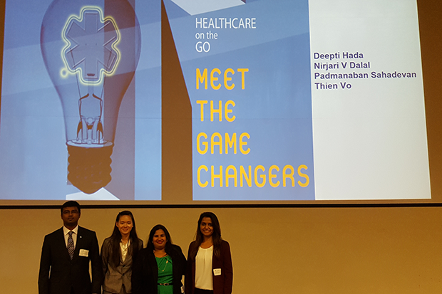 The Game Changers team members were Thien Vo, Nirjari V. Dalal, Padmanaban Sahadevan and Deepti Hada.