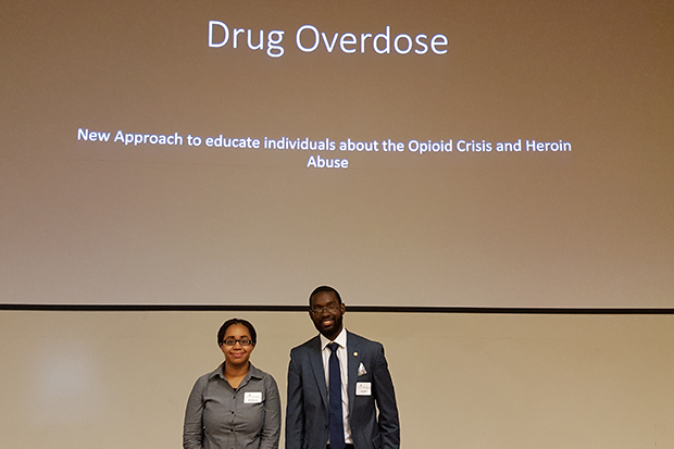 Japhet Ndemera and McKenzie Roberts developed a new approach to educate individuals on the opioid crisis and heroin abuse.